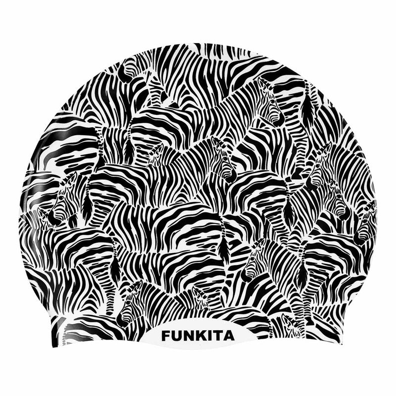 Funkita Silicone Swimming Cap - Zebra Crossing