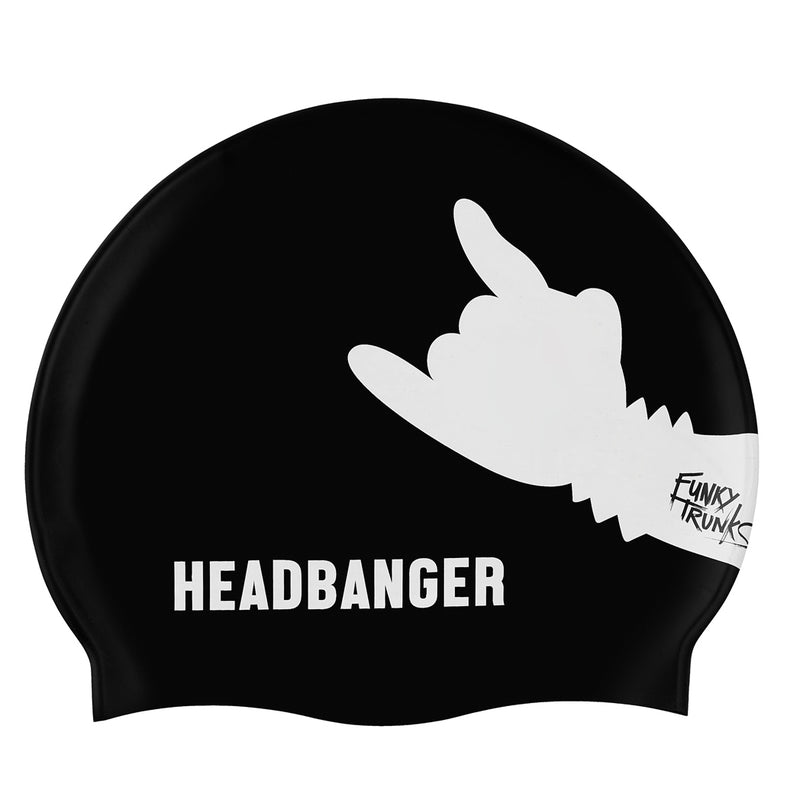 Funky Trunks Silicone Swimming Cap - Headbanger