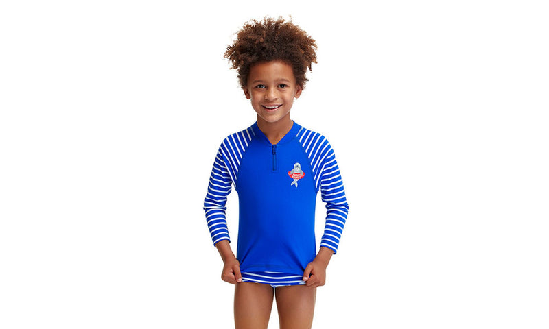 Funky Trunks Toddler Boys Zippy Rash Vest - Blue Riband