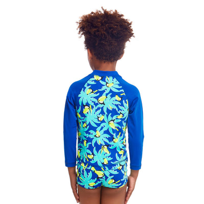 Funky Trunks Toddler Boys Eco Zip Rash Vest - Bird Brain