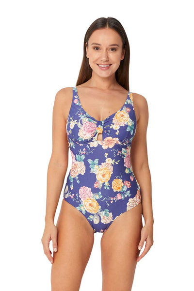 Monte & Lou Multi Fit Tab Front One Piece - Brightest Bloom