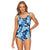 Poolproof Mastectomy Pintuck One Piece - Palm Zebra