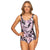 Poolproof Mastectomy Pintuck One Piece - Hibiscus