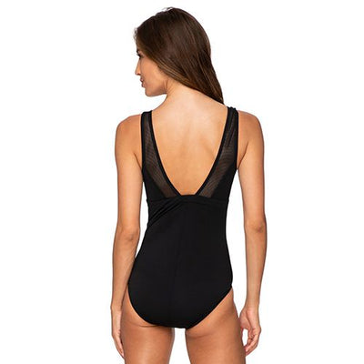 Poolproof Taped High Neck One Piece