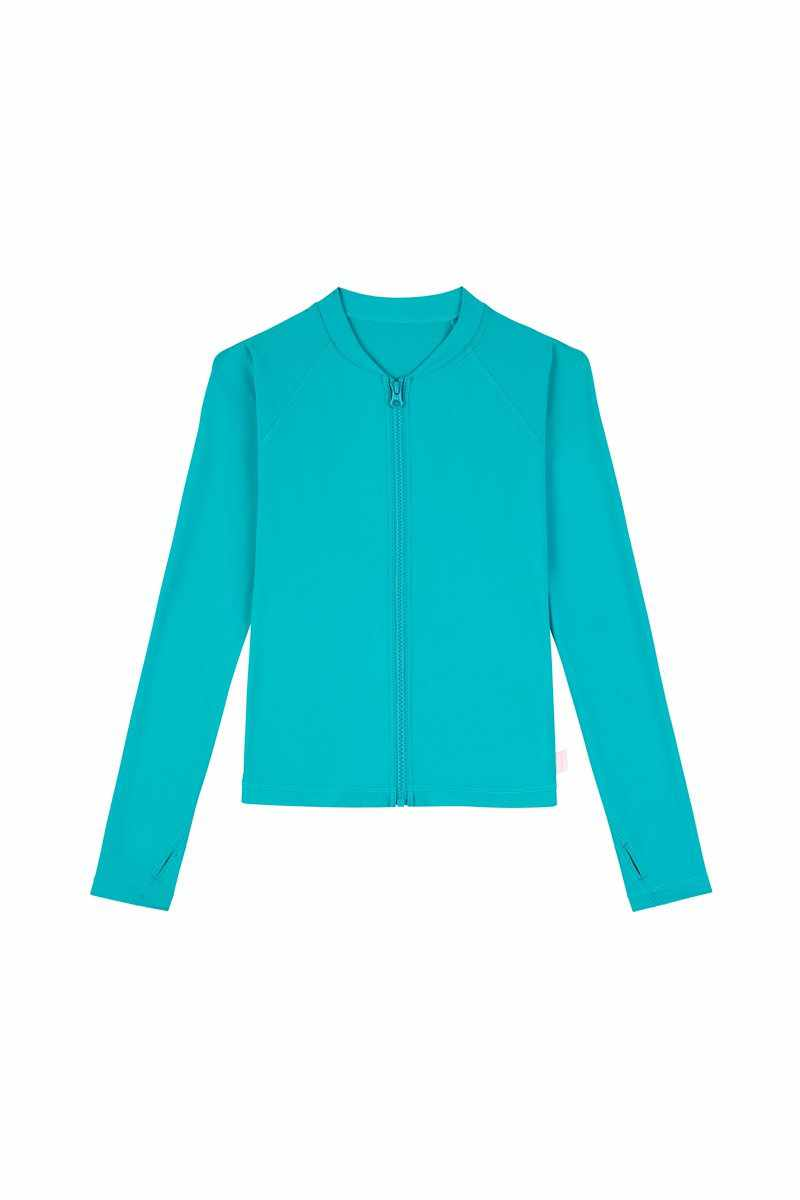 Seafolly Girls Long Sleeve Zip front Rashie - Summer Essentials