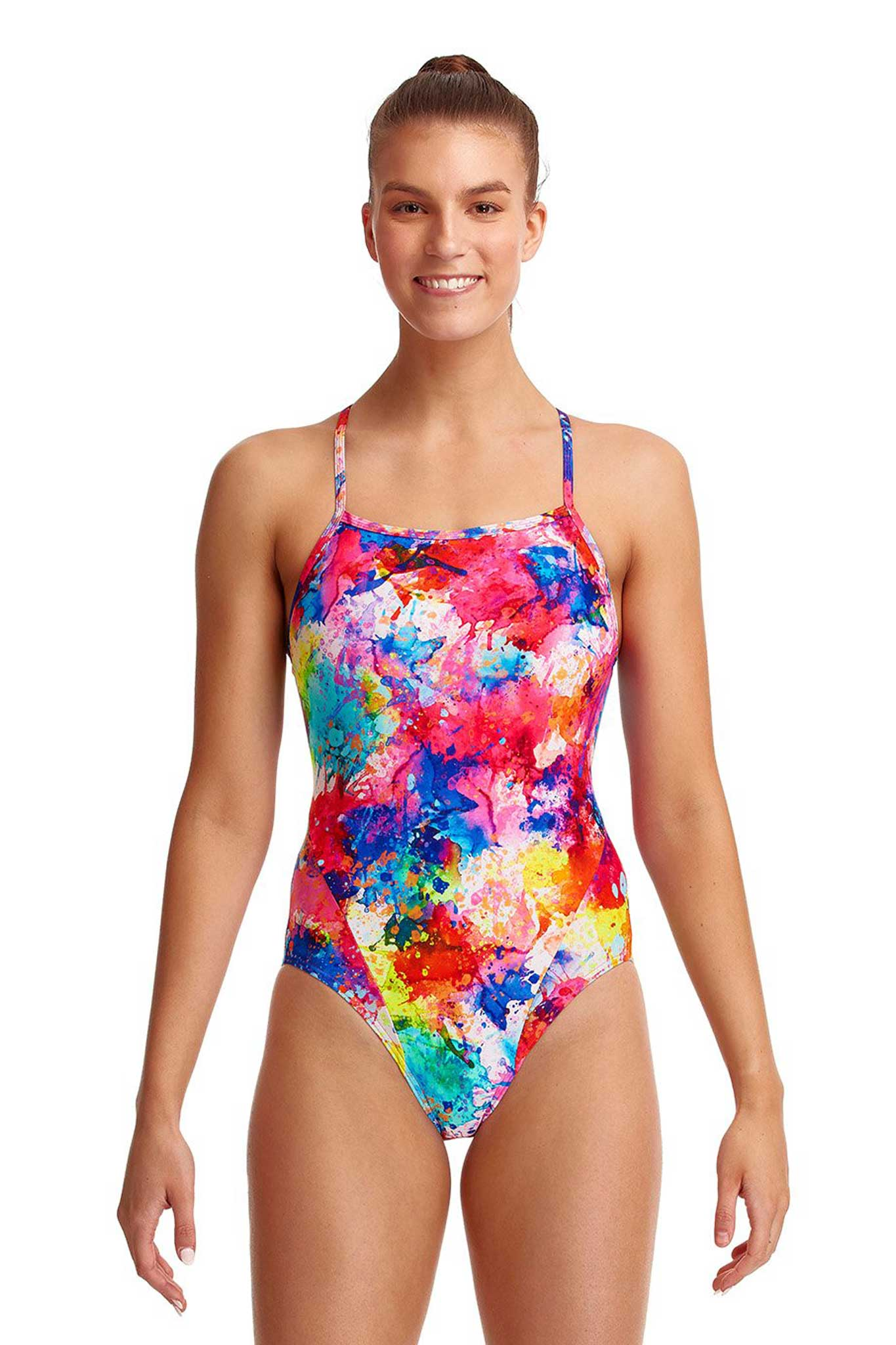 Funkita Ladies Single Strap One Piece - Dye Another Day