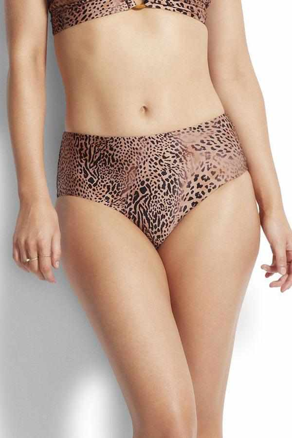 Seafolly Wide Side Retro Pant - Wild Ones