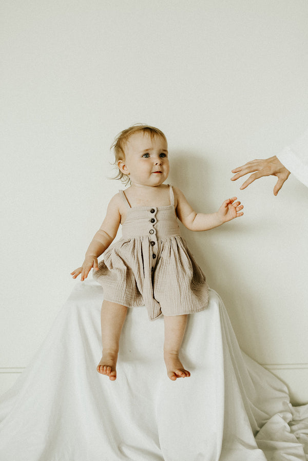 Gauze Kai dress in Petal