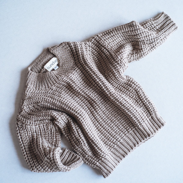 Hazelnut Chunky Knit Pull-Over