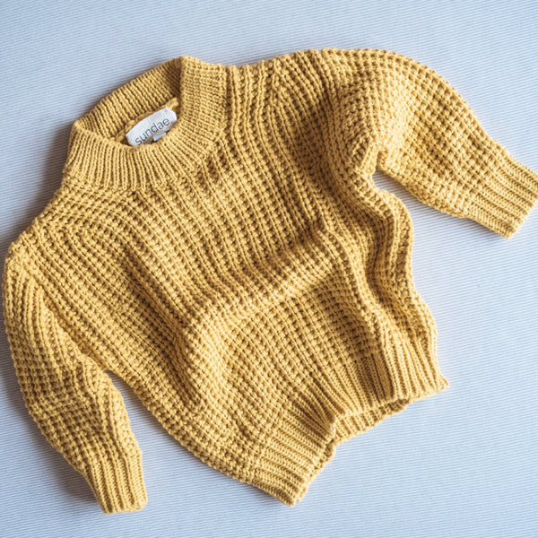 Mustard Chunky Knit Pull-Over