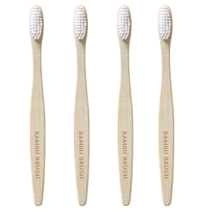 Ivory Bamboo Toothbrush - 4 Pack