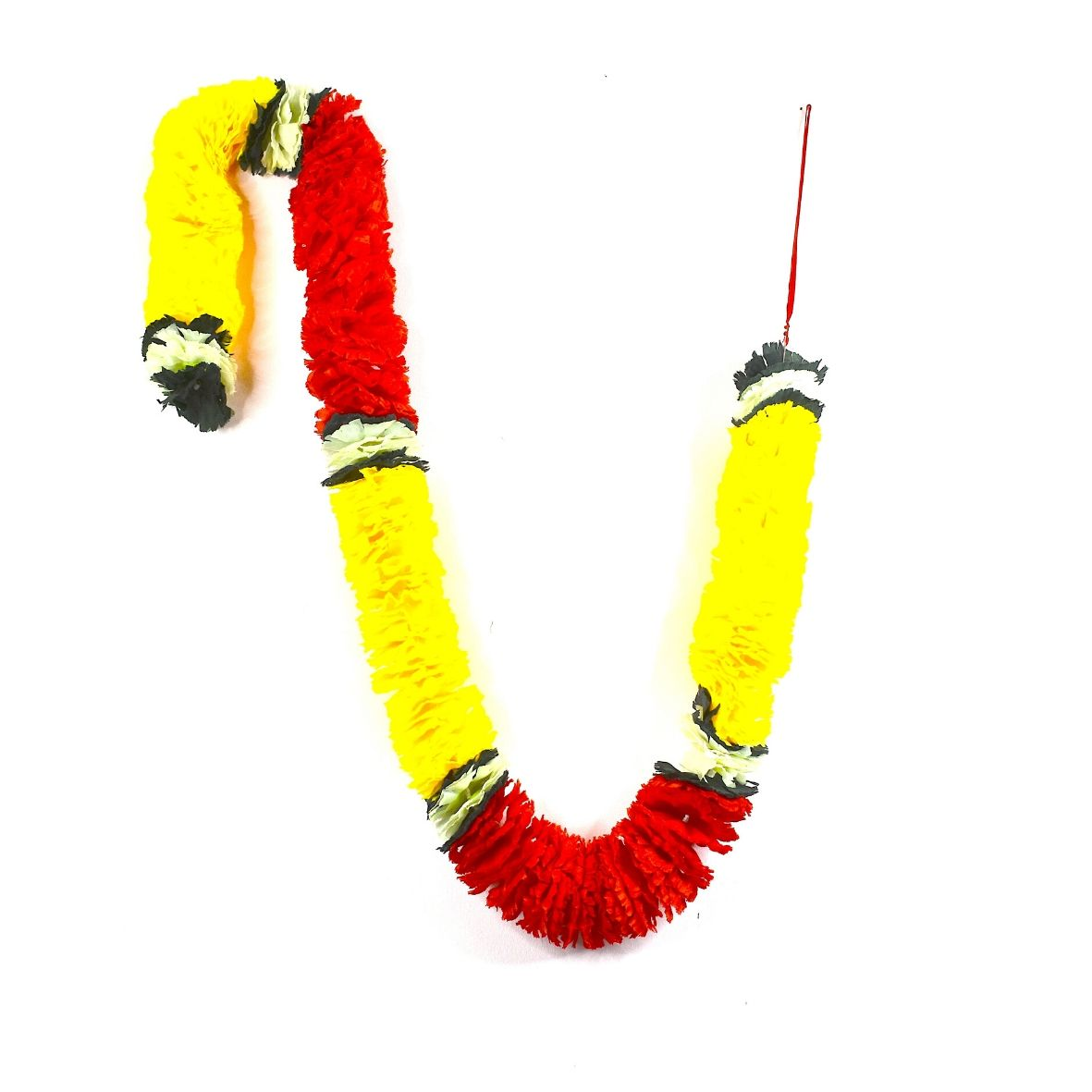 1 x Yellow / Red / Green & Lime Artificial Petal Garland (180cm Long)