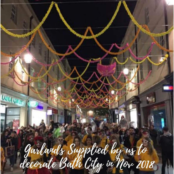 Street Decorated With Garlands