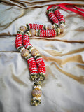 Artificial Necklace Garland Flowers - Gold / Red Milini Haar Artificial Necklace Garland Flowers