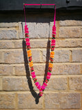 Artificial Necklace Garland Flowers - Hot Pink / Orange Milini Haar Artificial Necklace Garland Flowers