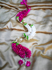 Artificial Necklace Garland Flowers - Hot Pink / White Milini Haar Artificial Necklace Garland Flowers