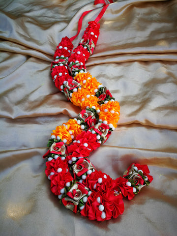 Artificial Necklace Garland Flowers - Red / Orange Milini Haar Artificial Necklace Garland Flowers