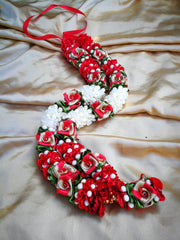 Artificial Necklace Garland Flowers - White / Red Milini Haar Artificial Necklace Garland Flowers