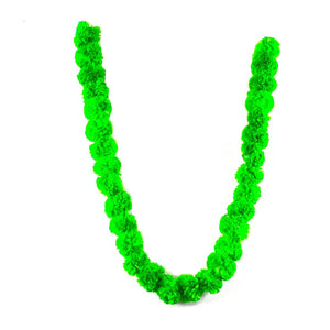 1 x String of Green Marigold Artificial Plastic Hanging Garland 4ft Long.