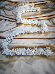Hanging Artificial Garland Flowers - 1 X String Of White Hanging Artificial Cloth Garland Flowers 6ft Long