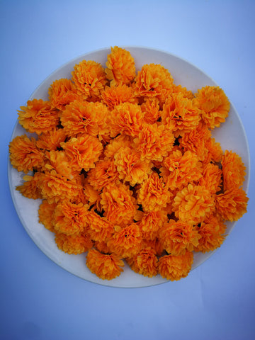Loose Artificial Flowers - Orange Loose Artificial Flowers