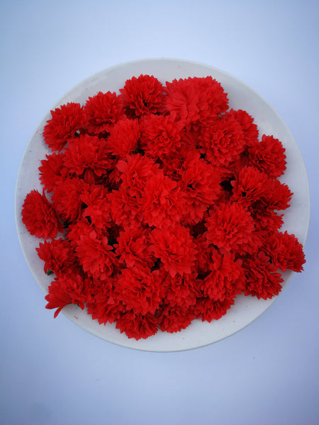 Loose Artificial Flowers - Red Loose Artificial Flowers