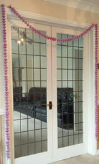 Personalised Door Entry Artificial Garland Flowers - Lilac Personalised Door Entry Artificial Garland Flowers