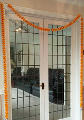 Personalised Door Entry Artificial Garland Flowers - Orange Personalised Door Entry Artificial Garland Flowers