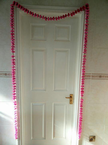 Personalised Door Entry Artificial Garland Flowers - Pink Personalised Door Entry Artificial Garland Flowers