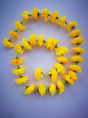 Personalised Hanging Artificial Garland Flowers - Yellow Personalised Hanging Artificial Garland Flowers