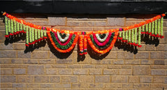 Toran Artificial Garland Flowers - Green / White / Pink / Orange Toran Artificial Garland Flowers