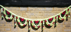 Toran Artificial Garland Flowers - Green / White / Red Toran Artificial Garland Flowers