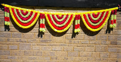 Toran Artificial Garland Flowers - Yellow / White / Red Toran Artificial Garland Flowers