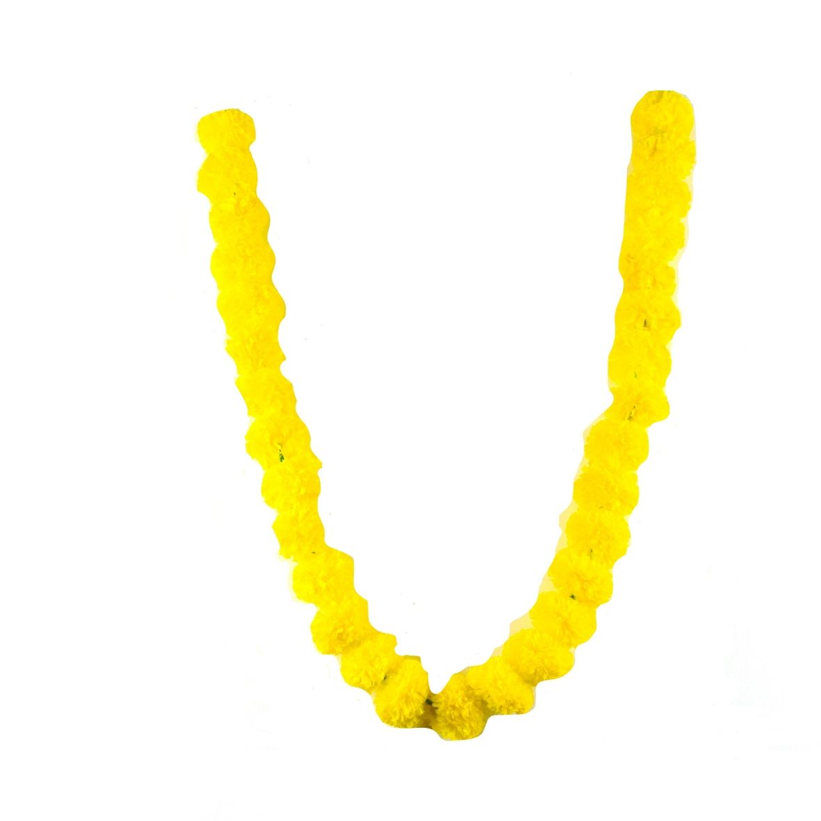 1 x String of Yellow Marigold Artificial Plastic Hanging Garland 4ft Long