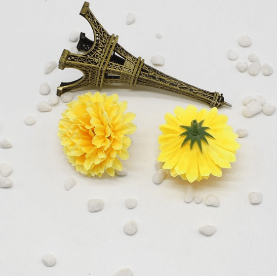 Yellow Artificial Carnation Flowers