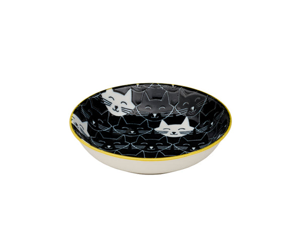 Whisker Cat Mini Bowl - Black