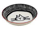Avalon Ceramic Bowl Cat Head - Black