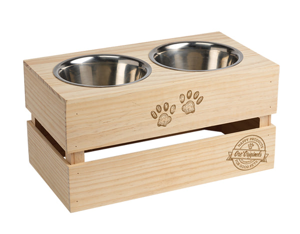 Ore Stainless Steel Crate Bowl Stand Set