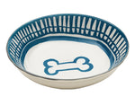 Avalon Ceramic Bowl Bone - Blue
