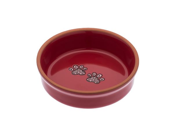 Henna Paw in Red Small Bowl