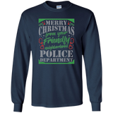 Merry Christmas Police Ugly Sweater Long Sleeve Shirt