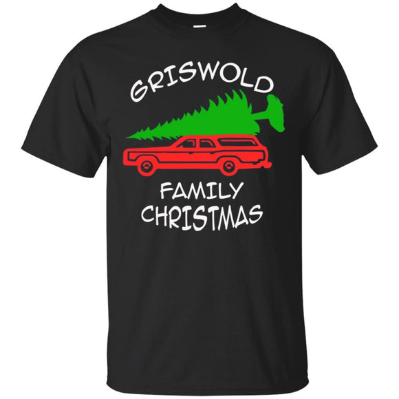 Damicy Griswold's Family Christmas Red Truck Green Tree Tee