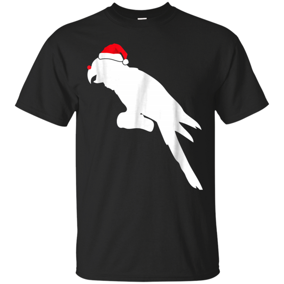 Macaw Santa Hat T-Shirt Gifts For Christmas Day