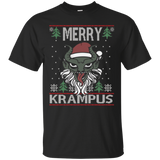 Merry Krampus Claus Funny Holiday Ugly Christmas T-Shirt
