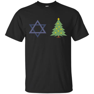 Chrismukkah Star Of David & Christmas Tree Hanukkah T-Shirt