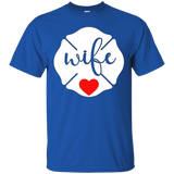 Firefighter Wife Love Shirt Cute Christmas Gift for Mom