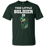 Kids 5th Birthday Boys Soldier Kids T-Shirt Military 5 Year Old