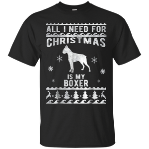 Vintage Christmas Style Boxer Dog Funny T-Shirt, Hoodie, Tank