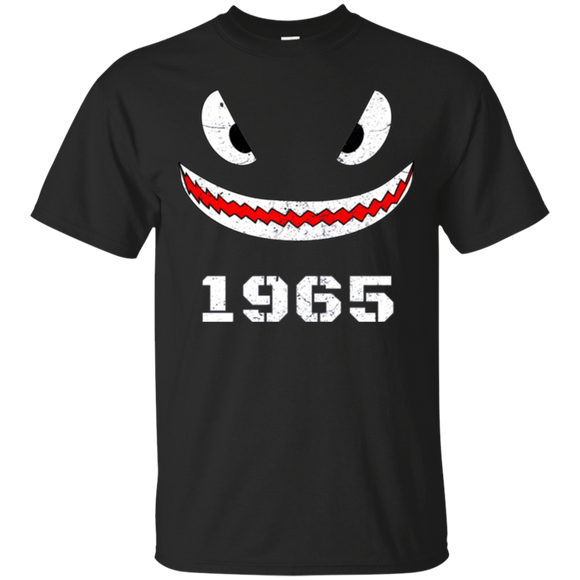Shark Mouth 53rd Birthday Veteran T-Shirt For Born In 1965