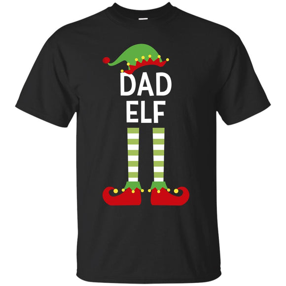 Dad Elf Father Cute Matching Family Christmas Elves Shirt